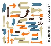 arrows and vector signs  set of ... | Shutterstock .eps vector #1930021967