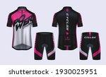 cycling jerseys mockup t shirt... | Shutterstock .eps vector #1930025951