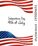 independence day card with... | Shutterstock .eps vector #193004651