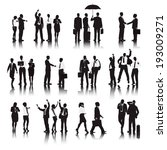 vector of  business people in... | Shutterstock .eps vector #193009271