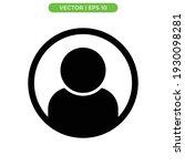 profile flat icon vector...   Shutterstock .eps vector #1930098281
