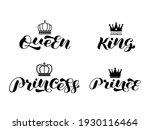 set of royal family king  queen ... | Shutterstock .eps vector #1930116464