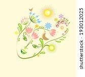 spring face | Shutterstock .eps vector #193012025