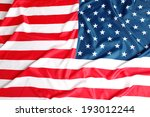 close up of american flag | Shutterstock . vector #193012244