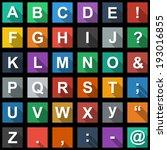 alphabet  text symbols flat... | Shutterstock .eps vector #193016855