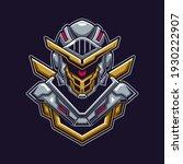 knight head with helmet logo... | Shutterstock .eps vector #1930222907