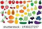 gradient vector set of fruits... | Shutterstock .eps vector #1930227257