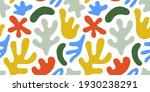 abstract leaf cutout shapes...   Shutterstock .eps vector #1930238291