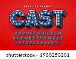pixel broadway show alphabet... | Shutterstock .eps vector #1930250201