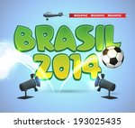 2014,above,aircraft,airplane,ball,banner,bouncing,brasil,brazil,bright,cartoon,colorful,colors,cool,creative