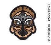 maori or samoan style mask.... | Shutterstock .eps vector #1930255427