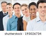 group of happy multiracial... | Shutterstock . vector #193026734