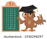 multiplication table one 1. owl ...   Shutterstock .eps vector #1930298297