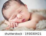 newborn baby boy sleeping... | Shutterstock . vector #193030421