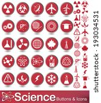 set of science and education... | Shutterstock .eps vector #193034531