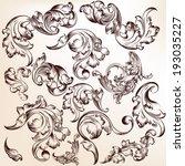 vector set of calligraphic... | Shutterstock .eps vector #193035227