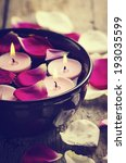 Spa Candles And Rose Petals....