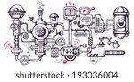 vector industrial illustration... | Shutterstock .eps vector #193036004