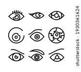 Eye Icon Or Logo Isolated Sign...