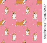 seamless corgi pattern. cartoon ... | Shutterstock .eps vector #1930372667