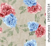 blue and pink vector flowers... | Shutterstock .eps vector #1930373114