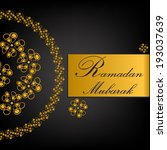abstract ramadan background. | Shutterstock .eps vector #193037639
