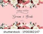 beautiful wedding invitation...   Shutterstock . vector #1930382147