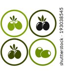 set of colorful olives in round ... | Shutterstock .eps vector #193038545