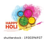illustration of happy holi... | Shutterstock .eps vector #1930396937