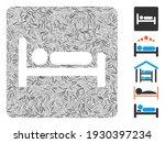 line mosaic based on motel bed... | Shutterstock .eps vector #1930397234
