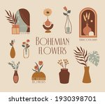vector bohemian flowers in a...   Shutterstock .eps vector #1930398701