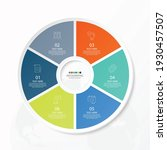 basic circle infographic... | Shutterstock .eps vector #1930457507