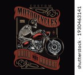 custom motorcycle vintage... | Shutterstock .eps vector #1930463141