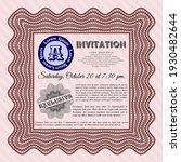 red retro invitation. artistry... | Shutterstock .eps vector #1930482644