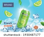 lime juice drink advertising.... | Shutterstock .eps vector #1930487177
