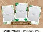 instant camera film vector with ... | Shutterstock .eps vector #1930503191