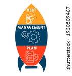 dmp   debt management plan... | Shutterstock .eps vector #1930509467