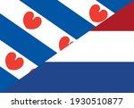 friesland and netherlands flags.... | Shutterstock .eps vector #1930510877