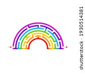 abstract maze rainbow. game ame ... | Shutterstock .eps vector #1930514381
