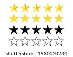 five stars rating icon. stars... | Shutterstock .eps vector #1930520234