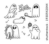 cute vector ghosts icons ... | Shutterstock .eps vector #1930542044