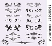 calligraphic design elements... | Shutterstock .eps vector #193055051