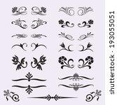 calligraphic design elements... | Shutterstock .eps vector #193055051