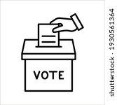 hand voting ballot box icon ... | Shutterstock .eps vector #1930561364