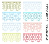 set of colorful seamless...   Shutterstock .eps vector #1930570661