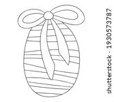 easter egg coloring page for... | Shutterstock .eps vector #1930573787