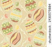 seamless easter pattern with... | Shutterstock .eps vector #1930575884
