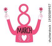 vector illustration of 8 march... | Shutterstock .eps vector #1930589957