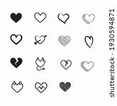 collection of heart icons... | Shutterstock .eps vector #1930594871