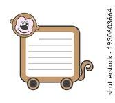animal frame monkey note vector   Shutterstock .eps vector #1930603664